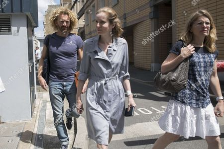 Stock Photo of Pierre Kosciusko-Morizet, Nathalie Kosciusko-Morizet and Caroline Kosciusko-Morizet