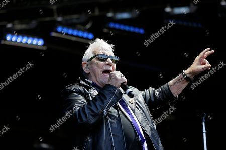 "Eric Burdon sings ""Monterey"" during the Monterey International Pop Festival, in Monterey, Calif. The festival turned 50 on Friday and celebrated its anniversary by kicking off another three-day concert that's bringing back a few acts from half a century ago. In 1967 the festival was the centerpiece of the ""Summer of Love."" Burdon performed at the first festival"