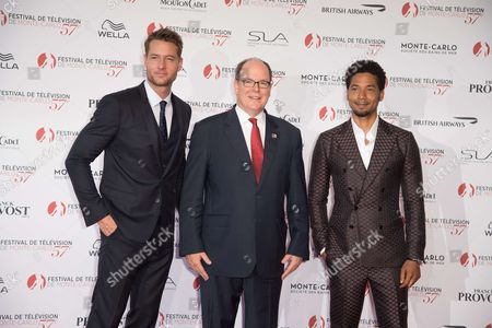 Patrick Heusinger, Albert II, Prince Rainier and Jussie Smollett
