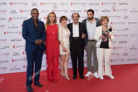 French actors Loup Denis Elion, Amelie Etasse, Anne Elisabeth Blateau, Gerard Hernadez, David Mora and Marion Game