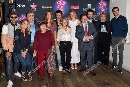 JR, Ludivine Sagnier, Agnes Varda, Alice Pol, Eric Lartigau, Deborah Francois, Jonathan Cohen, Luc Besson and Tarek Boudali