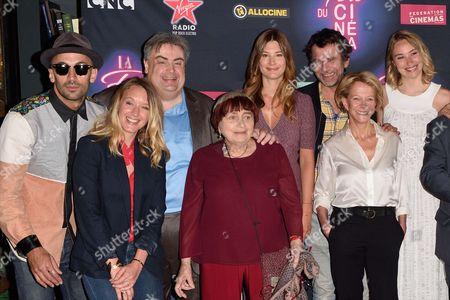 JR, Ludivine Sagnier, guest, Agnes Varda, Alice Pol, Eric Lartigau, guest, Deborah Francois, Jonathan Cohen, Luc Besson and Tarek Boudali