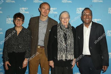 Sydney Film Festival's Programs Manager Jenny Neighbour, Carlo Nero, Vanessa Redgrave and Sydney Film Festival Director Nashen Moodley