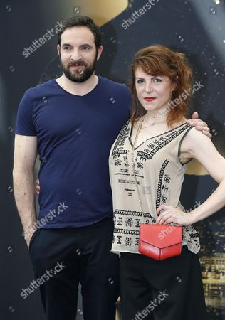 French actors Anne Elisabeth Blateau (R) and David Mora (L) pose during a photocall for the TV series 'Scenes de menages' at the 57th Monte Carlo Television Festival in Monaco, 17 June 2017. The event will take place from 16 to 20 June.