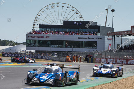 36 SIGNATECH ALPINE MATMUT, ALPINE A470 - GIBSON, Romain DUMAS FRA, Gustavo MENEZES USA, Matthew RAO GBR during the 24 Hours of Le Mans 2017 race at Le Mans, Le Mans