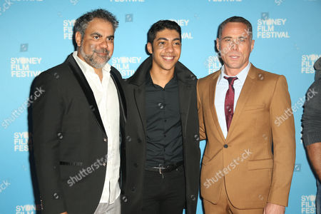 Stock Picture of Wayne Blair (Director), Hunter Page-Lochard (actor) and Marcus Graham (actor)