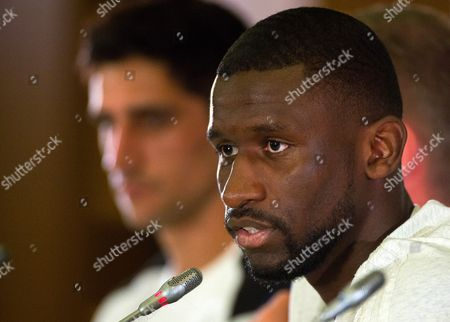 German national soccer team player Antonio Ruediger attends a press conference held at the Radisson Blu Paradise Resort and Spa conference centre, Sochi, Russia, 17 June 2017.  FIFA Confederations Cup will run in St. Petersburg, Moscow, Kazan and Sochi from 17 June till 02 July.
