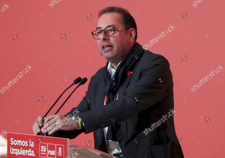 Stock Photo of Group leader of the Progressive Alliance of Socialists and Democrats, Italian Gianni Pittella, delivers a speech during the opening ceremony of 39th Spanish Socialist Party (PSOE) Federal Congress in Madrid, Spain, 17 June 2017. During the two-day congress, a total of 1,035 party delegates will decide a new strategic project for PSOE and elect the members of the new Federal Executive Commission, the new Federal Committee and Ethics Committee.