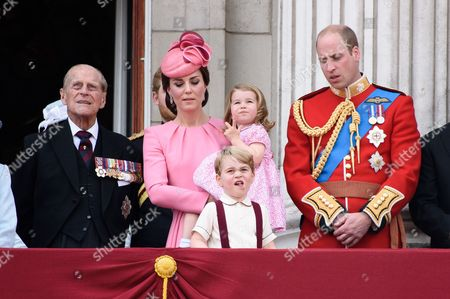 Prince Philip, Catherine Duchess of Cambridge, Prince William Prince George and Princess Charlotte