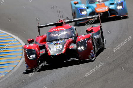 Panis Barthez Competition in a Ligier JSP217 - Gibson with Fabien Barthez of France, Timothé Buret of France and Nathanael Berthon of France take part in the Le Mans 24-Hour race in Le Mans, France, 17 June 2017.