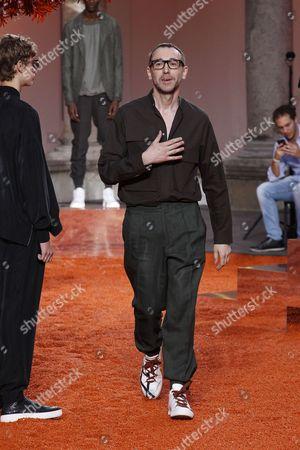 Alessandro Sartori on the catwalk