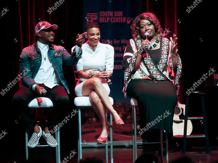 Raheem DeVaughn, Goapele, Vanessa Smith Southside Help Center executive director Vanessa Smith, right, joins Raheem DeVaughn and Goapele for an open conversation on women's sexual health at the Rise Above Chicago event presented by AIDS Healthcare Foundation at Park West on in Chicago