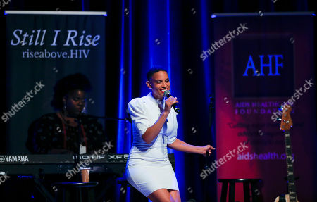 Neo-Soul sensation Goapele mesmerizes a packed house at the Rise Above Chicago event presented by AIDS Healthcare Foundation at Park West on in Chicago