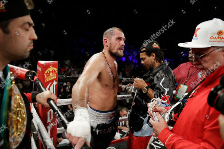 Sergey Kovalev after losing to Andre Ward in a light heavyweight championship boxing match, in Las Vegas