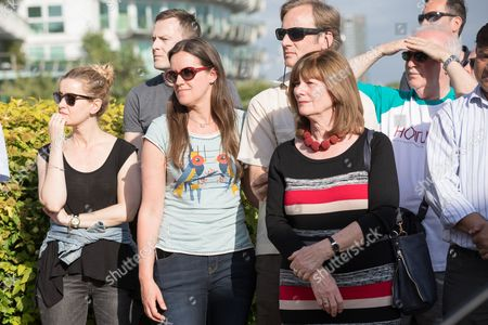 Neighbours and friends of Jo Cox attend The Great Get Together near Hermitage Moorings in Wapping to pay tribute and celebrate Jo's call that more unites us than divides us on the anniversary of her death. Jo Cox lived on a house boat in Wapping with her husband Brendan Cox and two children.