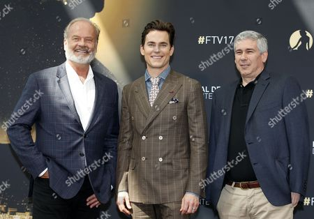 US actors Kelsey Grammer (L), Matthew Bomer (C) and US producer Christopher Keyser pose during a photocall for the TV series 'The Last Tycoon' at the 57th Monte Carlo Television Festival in Monaco, 18 June 2017. The event will take place from 16 to 20 June.
