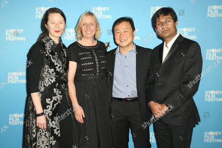 Stock Image of Jury members Ann Marie Fleming, Rosemary Blight, Kini Kim, Deepak Rauniyar
