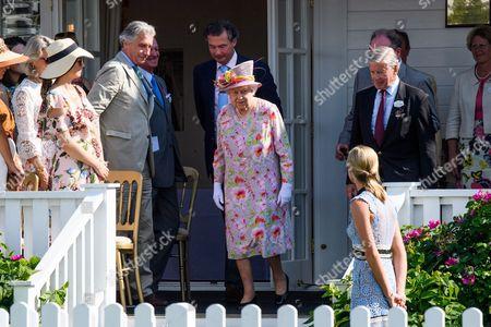 Arnaud Bamberger and HRH Queen Elizabeth II