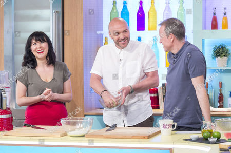 Alice Lowe with Tim Lovejoy and Simon Rimmer