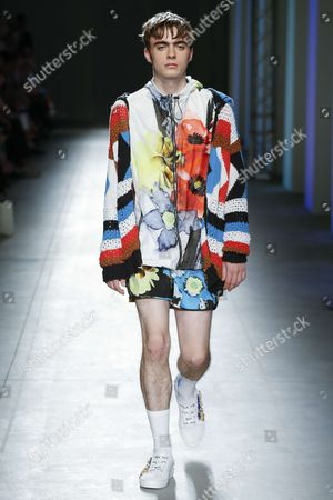Lennon Gallagher on the catwalk