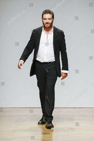 Stock Picture of Filippo Scuffi on the catwalk