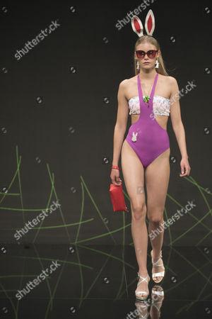 Lotta Korkala on the catwalk