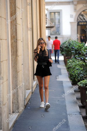 Editorial image of Erica Pelosini Leeman out and about, Milan, Italy - 17 Jun 2017