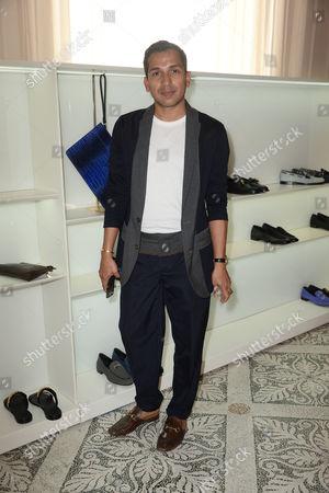 Editorial photo of Giuseppe Zanotti, Afterparty, Spring Summer 2018, Milan Fashion Week Men's, Italy - 17 Jun 2017