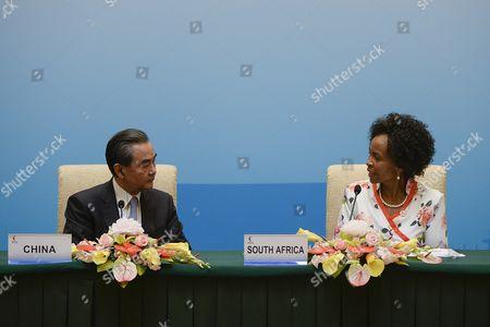 Maite Nkoana-Mashabane and Wang Yi
