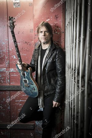 London United Kingdom - February 23: Portrait Of Welsh Musician Peredur Ap Gwynedd Guitarist With Rock Group Pendulum Photographed Before A Live Performance At Music Bank In London On February 23
