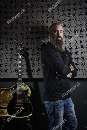 London United Kingdom - September 21: Portrait Of Swedish Musician Bjorn Gelotte Guitarist With Heavy Metal Group In Flames Photographed At The Gibson Showrooms In London On September 21