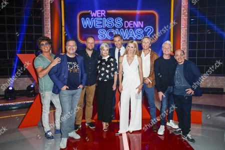 Atze Schröder, Elton, Smudo, Ina Müller, Kai Pflaume, Michelle Hunziker, Peter Kraus, Guido Cantz and Bernhard Hoëcker