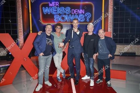 Elton, Atze Schröder, Kai Pflaume, Guido Cantz and Bernhard Hoëcker