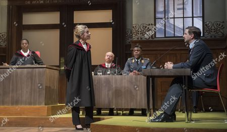 Tanya Moodie as Judge, Emma Fielding as Nelson, Forbes Masson as Defence Counsel Biegler, Ashley Zhangazha as Lars Koch, John Lightbody as Christian Lauterbach