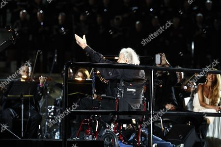 Editorial photo of Greek music legend Mikis Theodorakis directs finale at concert, Athens, Greece - 19 Jun 2017
