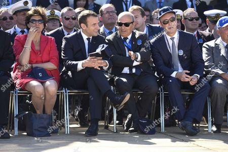 Sylvie Goulard, Emmanuel Macron, Eric Trappier, Fabrice Bregier, Serge Dassault