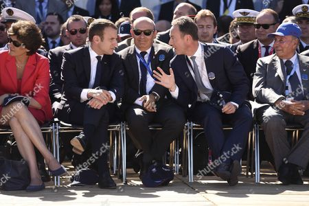 Sylvie Goulard, Emmanuel Macron, Eric Trappier, Fabrice Bregier, Serge Dassaul