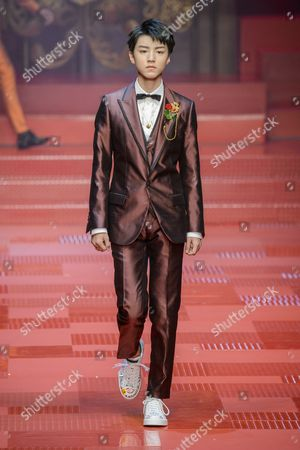 Editorial picture of Dolce & Gabbana show, Runway, Milan Fashion Week Men's, Italy - 17 Jun 2017