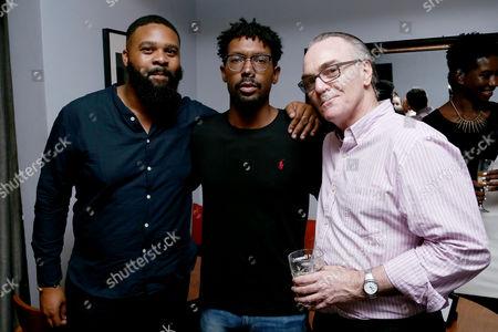 Jonathan Hall, Damon Davis (Co-Director), Eamonn Bowles (President, Magnolia Pictures)