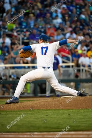 Omaha, NE U.S. - Florida relief pitcher Michael Byrne #17 in action during game 4 of the NCAA Men's College World Series between TCU Horned Frogs vs Florida Gators at the TD Ameritrade Park in Omaha, NE..Attendance: .Florida won