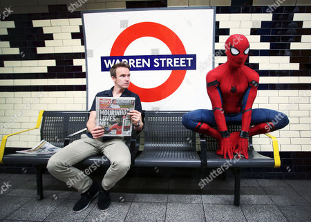 Stock Picture of Stunt double Chris Silcox wears the Spidey suit in striking photo shoot