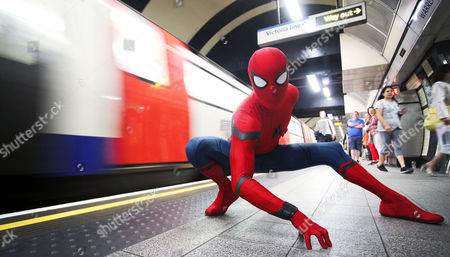 Editorial image of 'Spider-Man: Homecoming' comes to London, UK - 20 Jun 2017