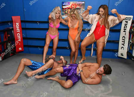 Georgia Crone, Che McSorley, Chloe Ferry, (on ground L-R) David Hawley, Josh Ritchie