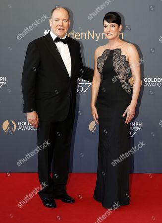 Prince Albert II of Monaco and Paget Brewster