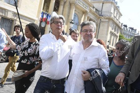 Jean-Luc Melenchon and Eric Coquerel