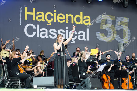 Stock Image of Hacienda Classical - Graeme Park, Mike Pickering & Manchester Camerata Orchestra performing.