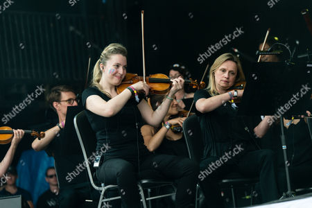 Stock Photo of Hacienda Classical - Graeme Park, Mike Pickering & Manchester Camerata Orchestra performing.