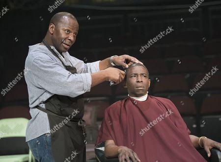 Stock Photo of Cyril Nri as Emmanuel, Abdul Salis as Kwame