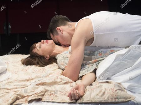 Editorial photo of 'Kiss Me' Play by Richard Bean performed at the Trafalgar Studio, London, UK, 09 Jun 2017