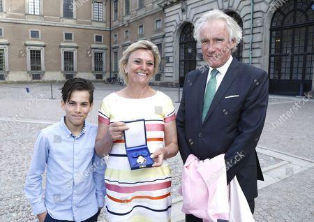 Eva Hamilton with husband Karl-Johan von Heland and son Ali